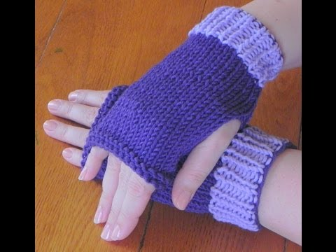 How to Knit Lesson Two - Fingerless Mittens
