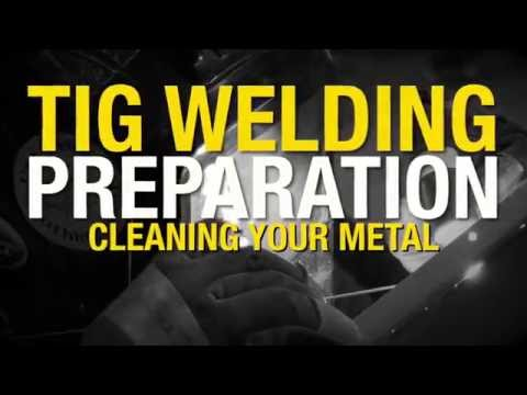 How to Properly Clean your Metal Before TIG Welding - Tips & Tricks From Eastwood