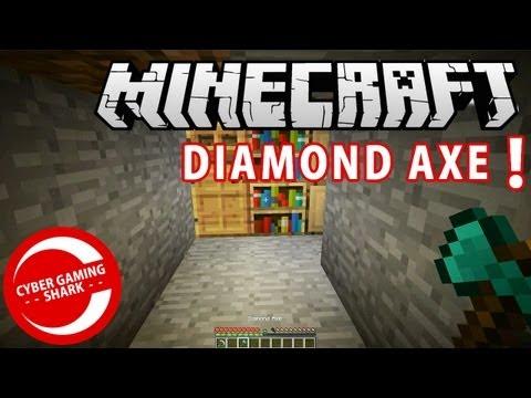 HOW TO MAKE A DIAMOND AXE MINECRAFT