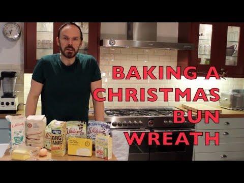 Baking A Healthy Christmas Bun Wreath