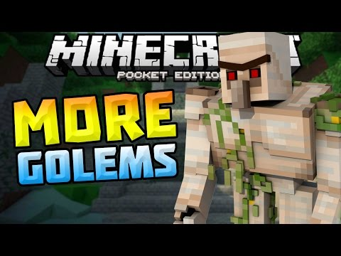 MORE GOLEMS in MCPE!!! - Golem World Mod v5 - Minecraft PE (Pocket Edition)