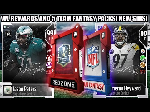 WL REWARDS AND 5 TEAM FANTASY PACKS FOR SIG PETERS AND CAMERON! | MADDEN 18 ULTIMATE TEAM