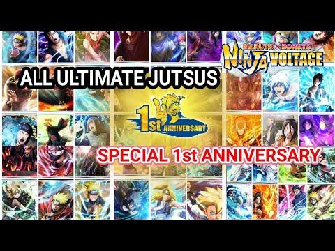 All Ultimate Jutsus Special 1st Anniversary | Naruto X Boruto Ninja Voltage