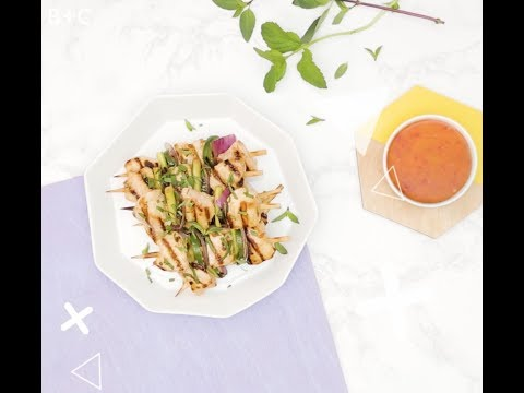 How to Make Lemongrass + Sriracha Grilled Chicken Kebabs