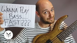 How to play bass *FAST*... 5 ultimate tips...