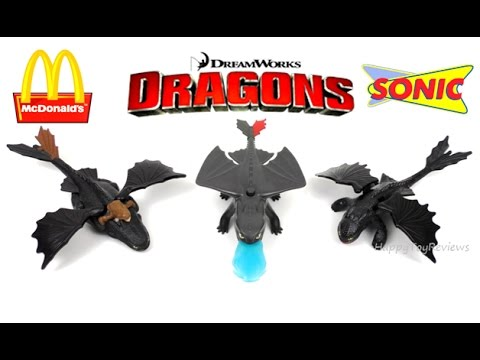 2017 DREAMWORKS DRAGONS McDONALD'S HAPPY MEAL TOYS HOW TO TRAIN YOUR DRAGON SONIC KIDS MEAL SING US