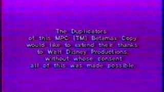 End Tag From 1977 Fantasia Bootleg Tape