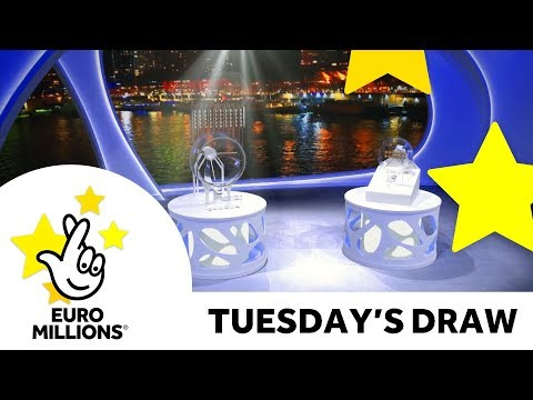 The National Lottery Tuesday 'EuroMillions' draw results from 22nd May 2018