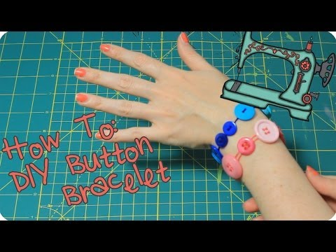 How To Make a Button Bracelet | Easy Kids DIY
