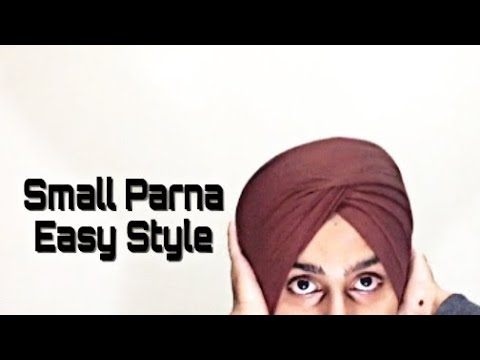 How To Tie Easy Small Parna Without Showing 50 BY Harpreet singh