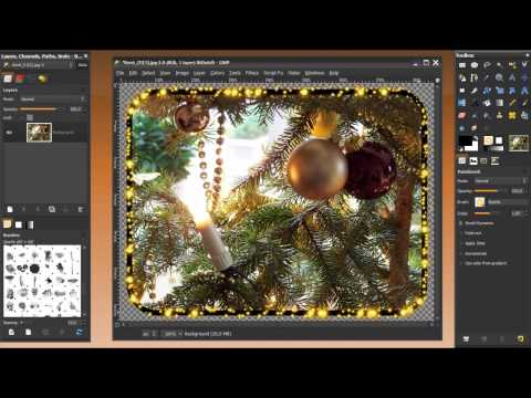 Gimp tutorial -Make a fancy border around a (rounded corners) image