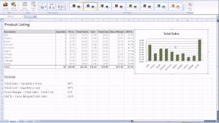 Excel 2007 How To Create A Graph Or Chart Using Your Spreadsheet Data