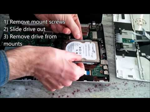 How to replace the hard drive in an Asus 1225b netbook