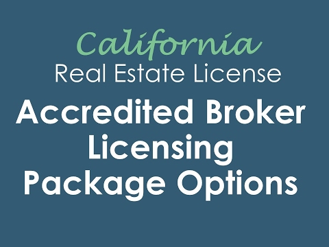 California Real Estate Broker Package Options | Accredited Real Estate Schools, Inc.