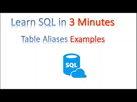 【Learn SQL in 3 minutes】--Using Table Aliases Examples (with Music)