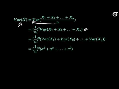 Deriving the Mean and Variance of the Sample Mean