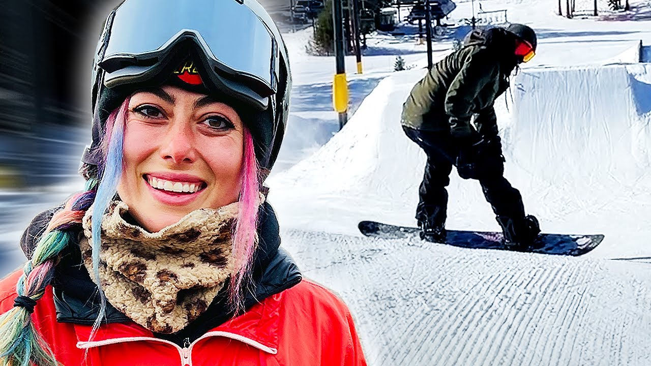 SKATER LEARNS HOW TO SNOWBOARD FROM A PRO