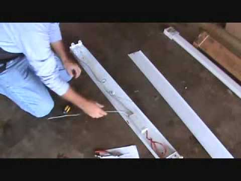 How to install a surface mounted fluorescent light fixture...Part 4