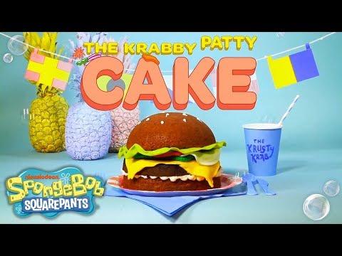 SpongeBob SquarePants | How to Make a Krabby Patty Cake | Nick