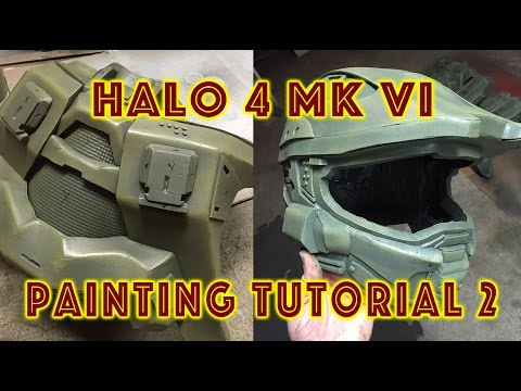 EVA Foam Armor Painting Tutorial 2 - Weathering