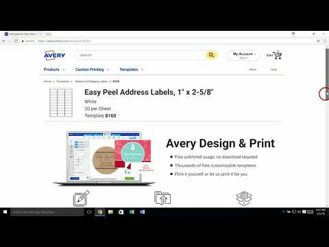 How to Download a Template for Microsoft®  Word or Adobe Creative Cloud  from Avery.com