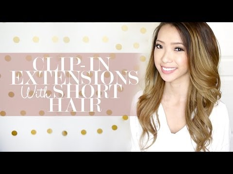 How To Clip in Hair Extensions with Short Hair