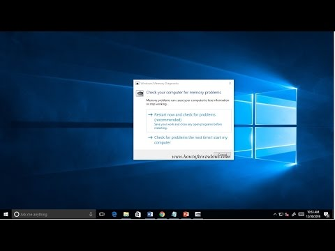 Use Memory Diagnostic Tool To Fix Memory Related Problems in Windows 10