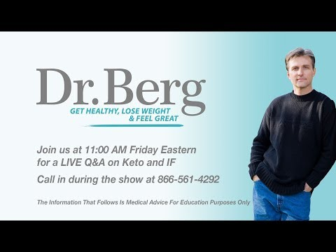 Join Dr. Berg for a Live Q & A on Keto