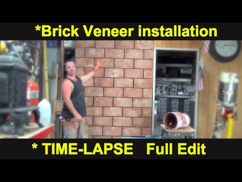 How To - Install Stone Veneer - TIME LAPSE