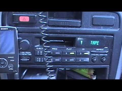 Cleaning the Tape Player in My 1995 Honda Accord