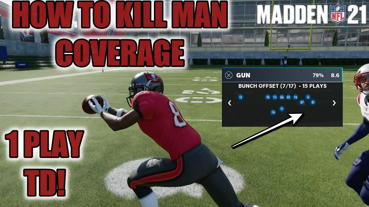 I FOUND THE BEST MAN BEATER IN MADDEN 21! SCORE EASY 1 PLAY TOUCHDOWNS VS MAN COVERAGE NOW!