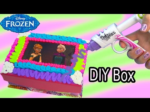 Queen Elsa Princess Anna Playdoh DohVinci DIY Disney Frozen Sticker Box Toy Play Doh Vinci Fun Craft