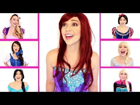 DISNEY MEDLEY (Disney Princess Dating Problems) 6 Princess Acapella Parody by Ask Kimberly