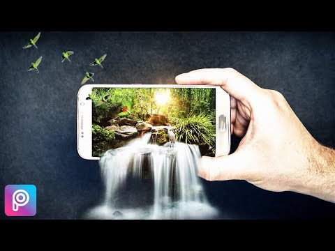 Picsart Editing Tutorial | 3D Waterfall On Mobile(3D Pop Out Effect) Photo Manipulation In Picsart
