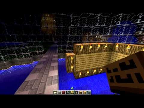 Minecraft Multiplayer: Buildcraft - The Making of a Spawn point Part 2 - Inside