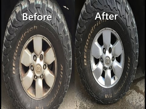 How to clean wheels with Car Battery Acid