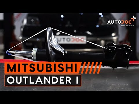 How to replace front shock absorbers Mitsubishi Outlander 1 TUTORIAL | AUTODOC