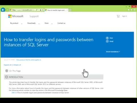 Migrate Logins and Passwords in SQL Server [HD]