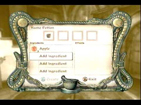 Oblivion Tutorial #3 - How to Level Alchemy to 100 Quickly