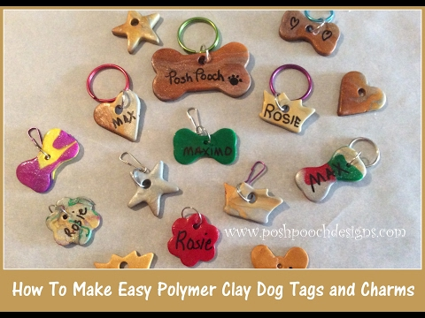How I Make Polymer Clay Dog Tags and Charms