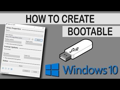 How To Create Bootable Usb Windows 10