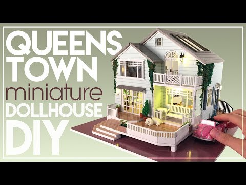 DIY QUEENSTOWN NEW ZEALAND MINIATURE DOLLHOUSE | with Chic Interior & Lighting