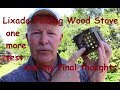 Lixada Folding Wood Stove - one more test and my final thoughts