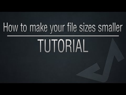 Photoshop Tutorial - How to make your file sizes smaller