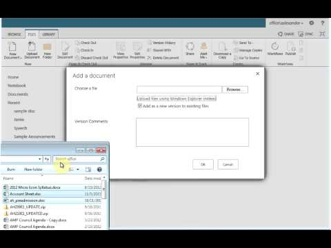 SharePoint 2013 - Upload Multiple Documents