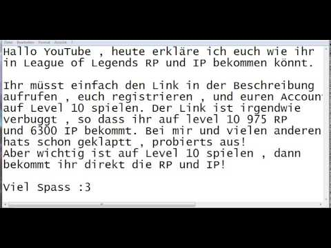 LoL (League of Legends) How to get FREE IP + RP (FREE RIOT POINTS)  (Legal) (No Fake)