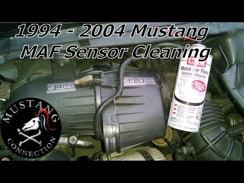 How to clean 1995 Mustang GT MAF Sensor SN95 and SN95ll 1994 to 2004 Mustang Mass Air Flow Sensor