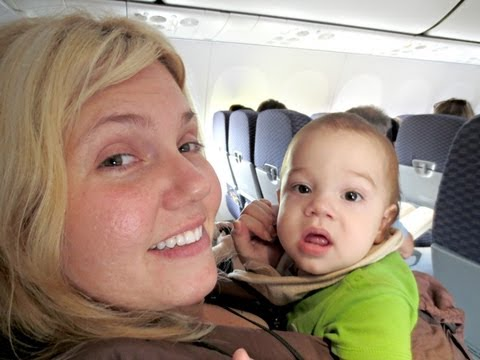 International Flight with Baby in CLOTH DIAPERS!! - September 24, 2013 - FoolyLiving Vlog