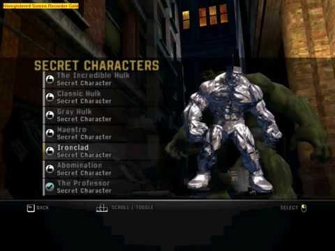 the incredible hulk secret charecters