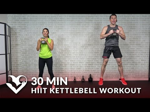 30 Minute HIIT Kettlebell Workouts for Fat Loss & Strength - 30 Min Kettlebell Workout Cardio